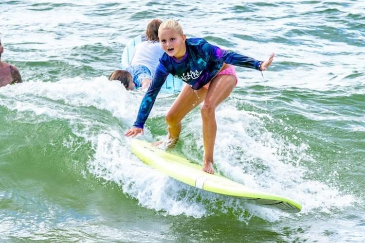 orange beach surfing